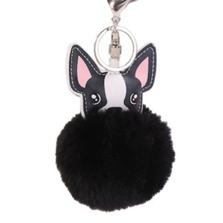 Black fluffy keyring