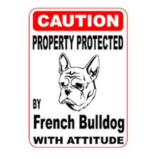 Frenchie with attitude sticker