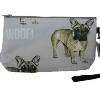 "Organizer bag in ""woof"" pattern"