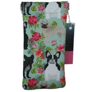 Sunglasses case - green floral