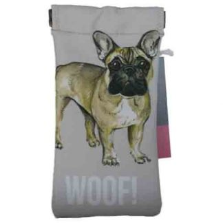 "Sunglasses case - ""woof"" pattern"